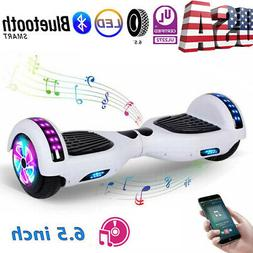 """6.5"""" Bluetooth Hoverboard Electric Balancing Scooter White H"""