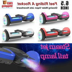6.5'' Bluetooth Hoverboard with Glowing Water Vapor Jets & L