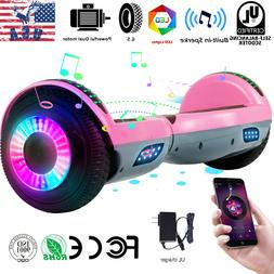 """6.5"""" Bluetooth Hoverboards Self-Balancing Scooter LED Pink"""