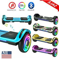 "6.5"" Self Balancing Scooter Electric Hoverboard Bluetooth Sp"