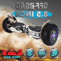 "8.5"" OFF-Road Self Balancing Hoverboard Bluetooth Speaker Bl"