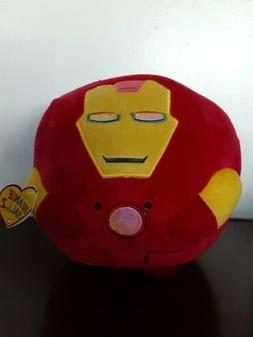 "8"" New Iron Man Ty Beanie Ballz Plush Marvel Kids 2013 Self"