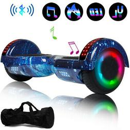 """Bluetooth Hoverboards Swagtron Scooter LED 6.5"""" 2-Wheel Mu"""