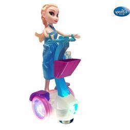 Elsa Toys Electric Princess Doll Balance Scooter Music Light