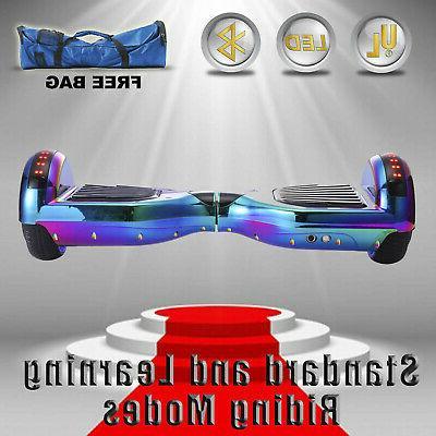 "6.5"" 2-Wheel Self Hoverboard Bluetooth free"