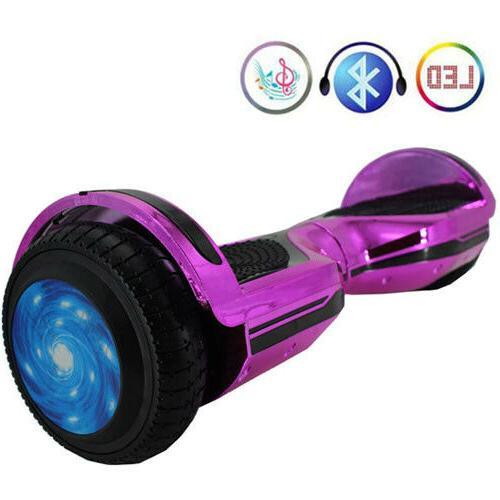 "6.5"" Bluetooth Speaker, LED Lights Balancing Scooter"