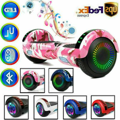 Bluetooth LED Hover Board NHT Chrome Self Scooter Adult