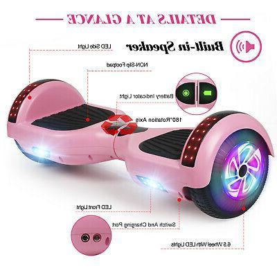 "6.5"" LED Self Balancing Scooter Wheel Girl"