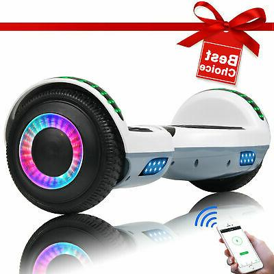 Bluetooth Hoverboard LED Balance Electric Bag White+Gray