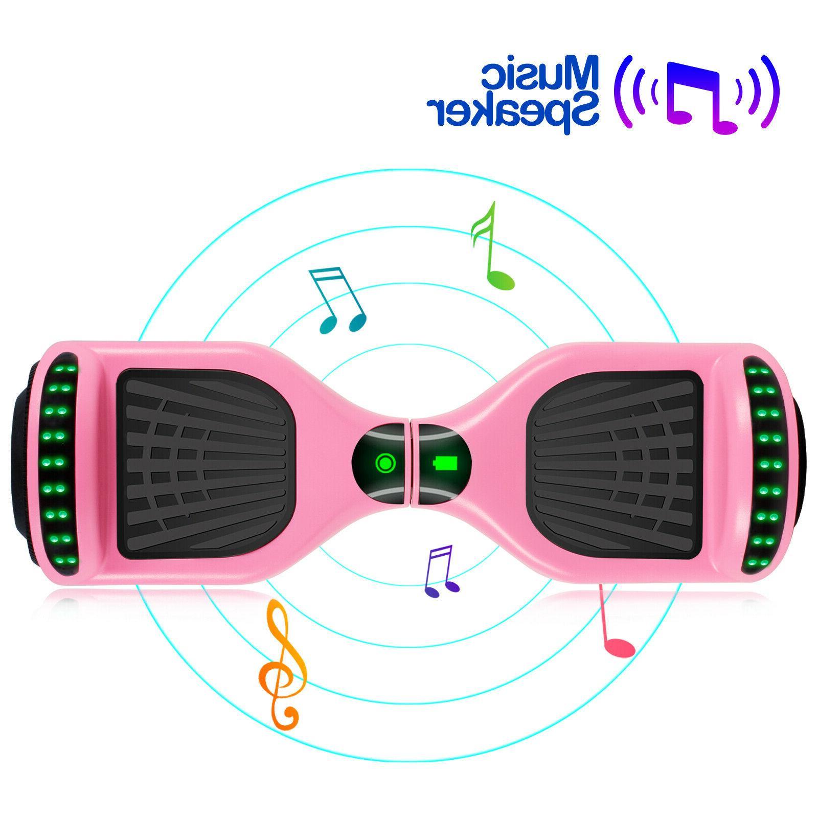 "6.5"" Bluetooth Self-Balancing Scooter LED Pink Girl Gifts No Bag"