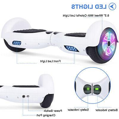 6.5'' LED Hoverboard Self Balancing Electric Scooter UL2272 No Bag