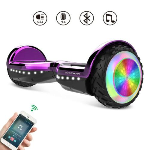 6.5'' Smart LED 2-Wheel Self Electric Bluetooth Scoote UL2272