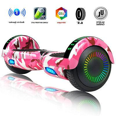 """6.5"""" Pink Hoverboard Bluetooth Electric Self Balance Scooter"""