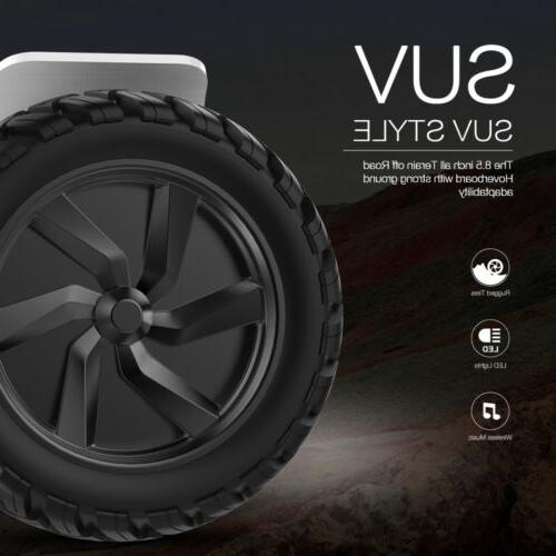 8.5'' Wheels Self Balancing 7.4mPH Speaker