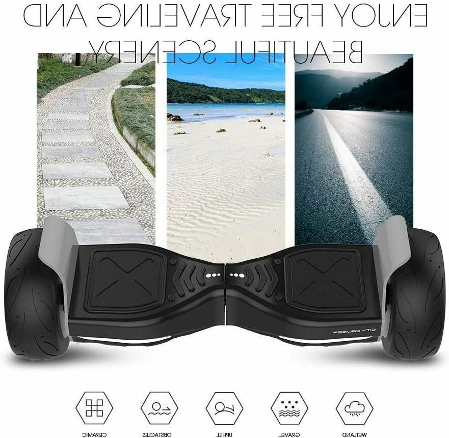 """City Tires 8.5""""Hooverboard Bluetooth Speaker UL2272Certified"""