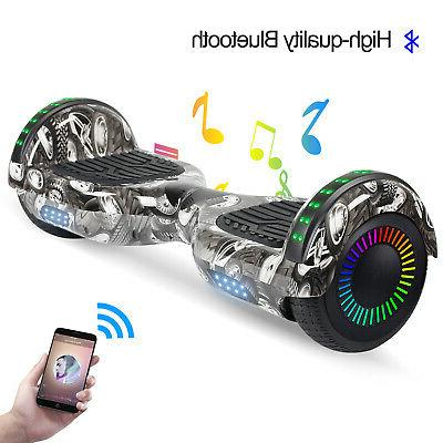 Bluetooth Hoverboards Electric LED Gray NO Bag