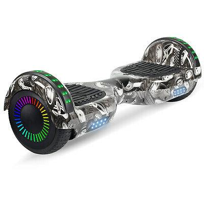 Bluetooth Hoverboards Razor Scooter Electric Self-Balancing Gray NO