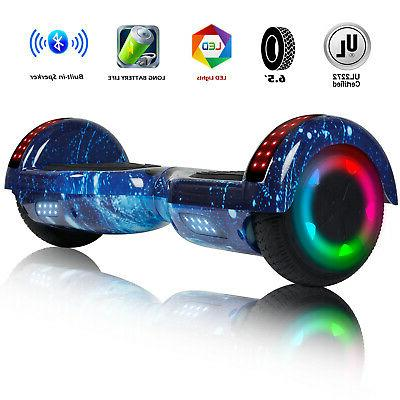 """Bluetooth Speaker Hoverboards Swagtron Scooter LED 6.5"""" 2-"""