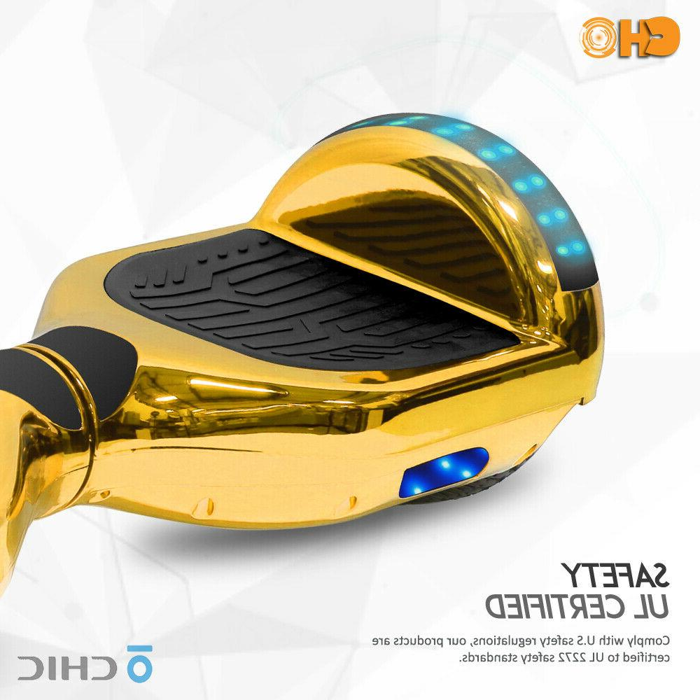 Chrome Hoverboard Electric Smart Self Balancing Scooter