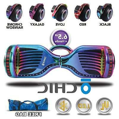electric hoverboard bluetooth led self balancing scooter