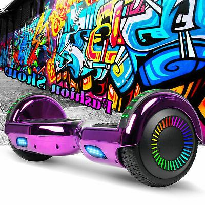Hoverboard Chrome Self Balancing Scooter no Purple