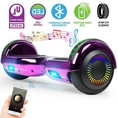 hoverboard bluetooth chrome electric self balancing scooter