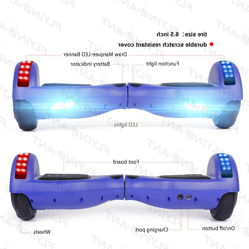 nht Electric Self Balancing Scooter Blue Hoverboard Bluetooth
