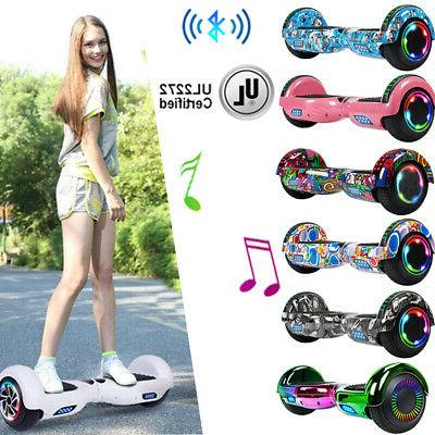 Bluetooth Electric Hoverboard Swagtron Balancing LED Scooter