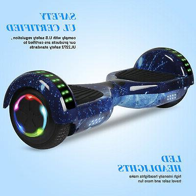 """UL2272 6.5"""" Electric Hoverboard Self Scooter LED"""