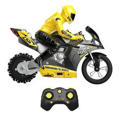 Mini 1:6 Self Balancing RC Motorcycles Kids Game Toy Motor w
