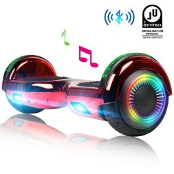 New Red Bluetooth Hoverboard for Girls Led Sidelight Electri