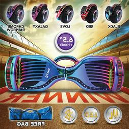 """6.5"""" Hoverboard Bluetooth LED Self Balancing Electric Scoote"""