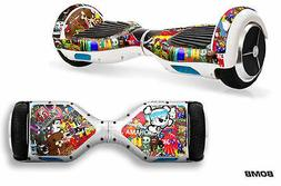 Skin Decal Wrap Stickers for Hoverboard Scooters Fits Glyro,